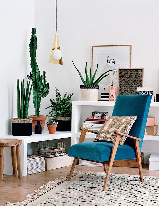 Idee Deco Salon Fauteuil Colore