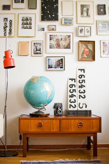 idee deco vintage recup globe terrestre