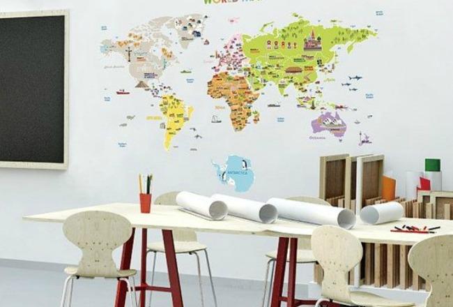 idee decoration globe terrestre mappemonde carte
