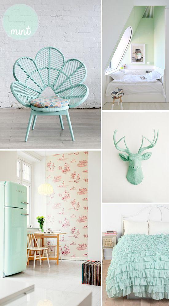 mobilier et inspiration vert pastel