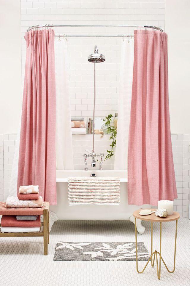 salle de bain girly rideau de douche
