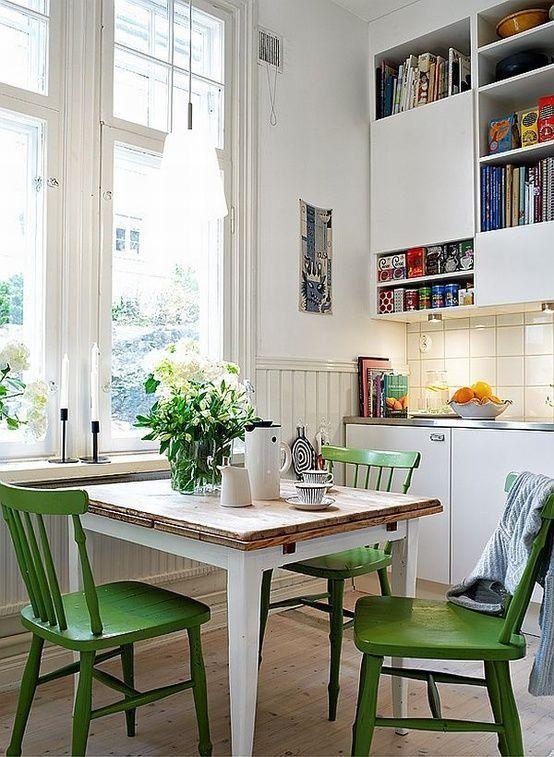vert deco chaise cuisine