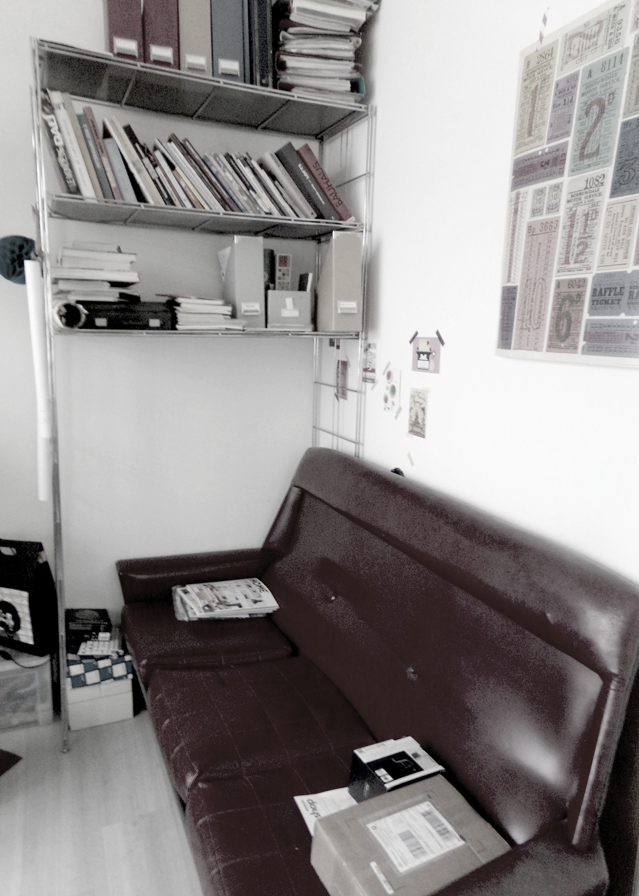 bureau canapé vintage