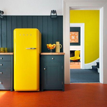 deco cuisine jaune et vert