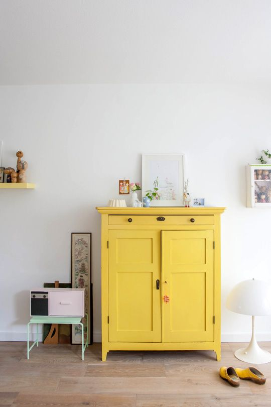 deco meuble personnalisation jaune