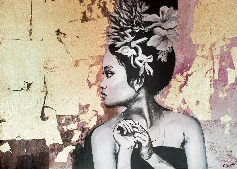 peinture toile femme camille schenkel