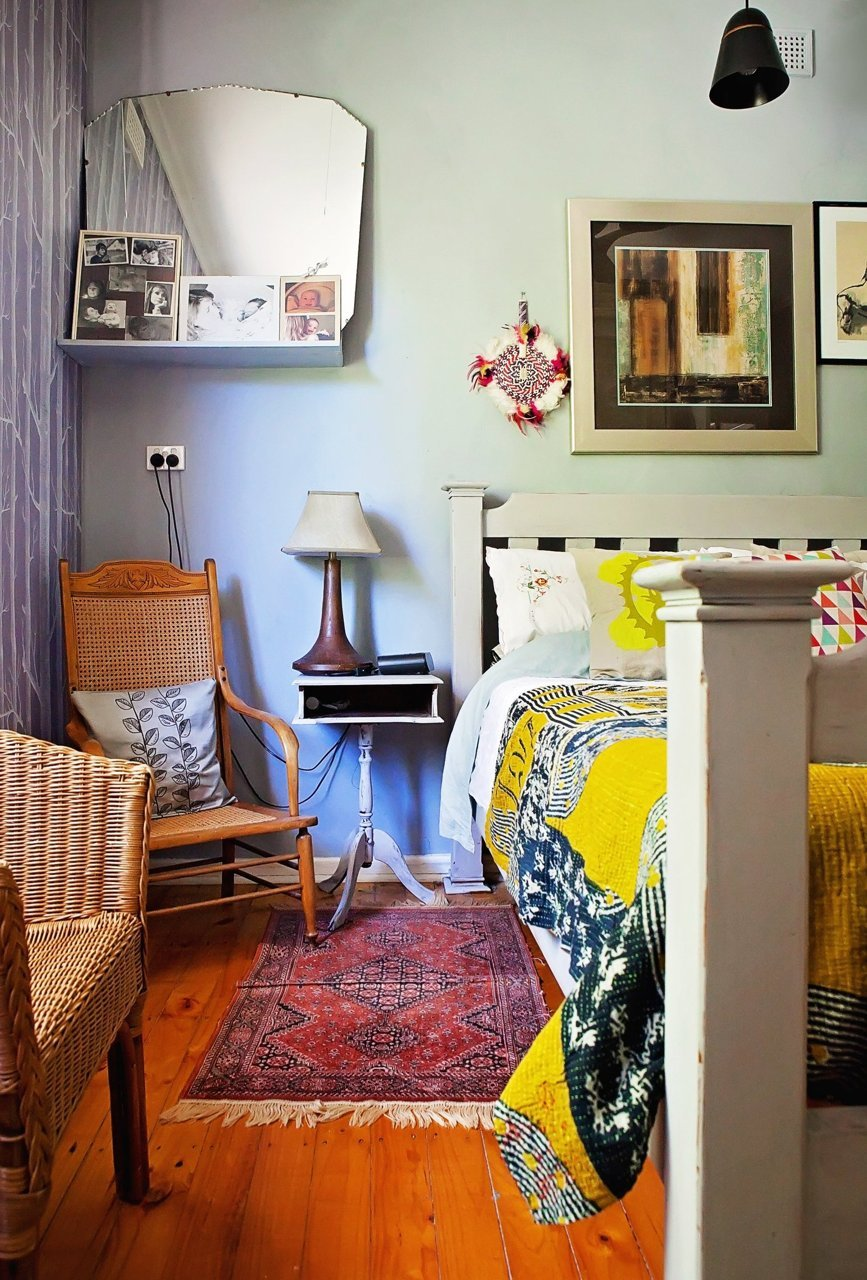 Eclectic Bedroom Vintage Apartment Therapy