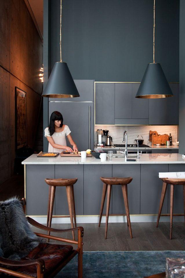le gris dans la cuisine cocon d co vie nomade. Black Bedroom Furniture Sets. Home Design Ideas