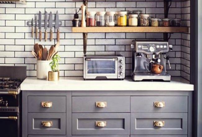 Idee Deco Cuisine Blanc Et Rouge : cuisine inspiration déco tendances déco le gris dans la cuisine