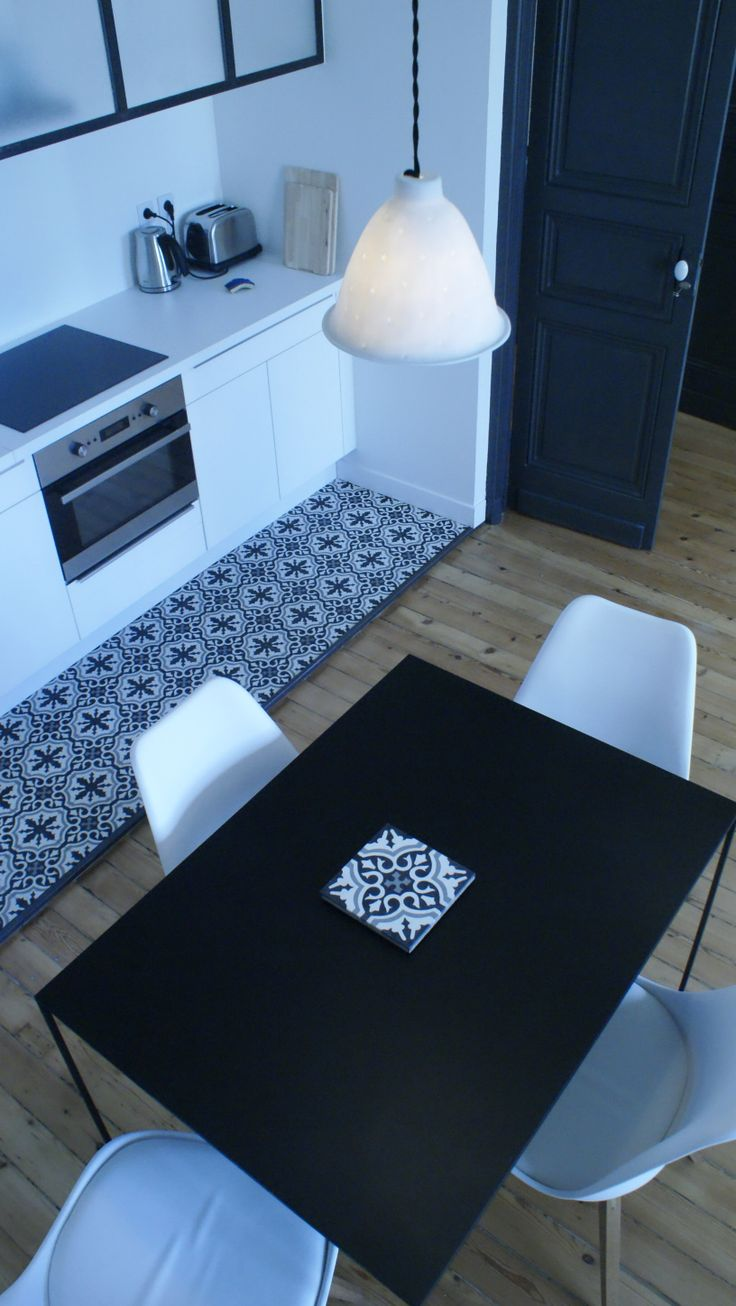 carreaux ciment cuisine. Black Bedroom Furniture Sets. Home Design Ideas