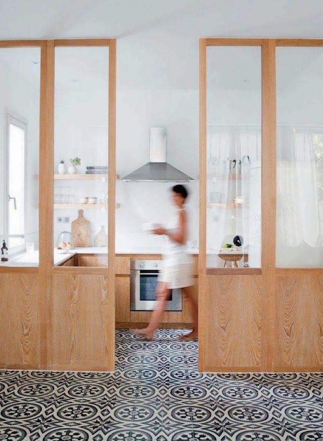 des carreaux de ciment dans la cuisine cocon d co vie nomade. Black Bedroom Furniture Sets. Home Design Ideas