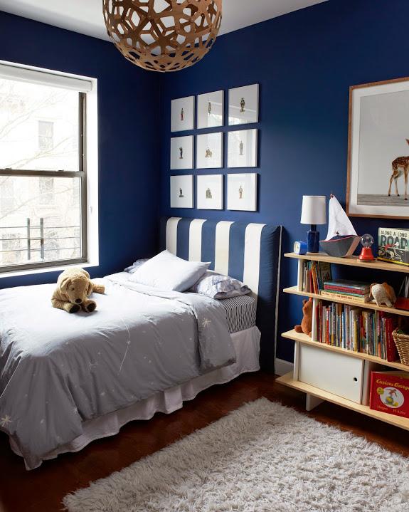 deco bateau enfant bleu et blanc chambre
