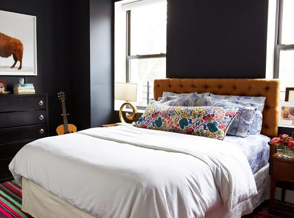 deco lit chambre vintage