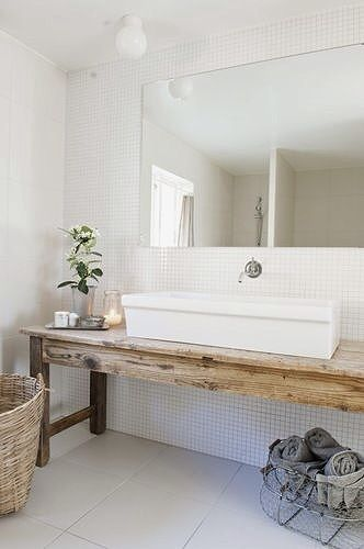 Du bois dans la salle de bain cocon de d coration le blog - Deco badkamer meubels ...