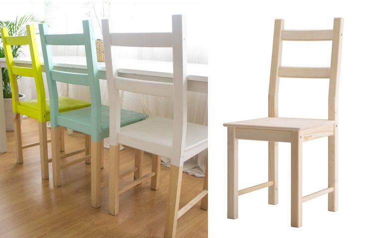 personnalisation chaise conteporaine en pin