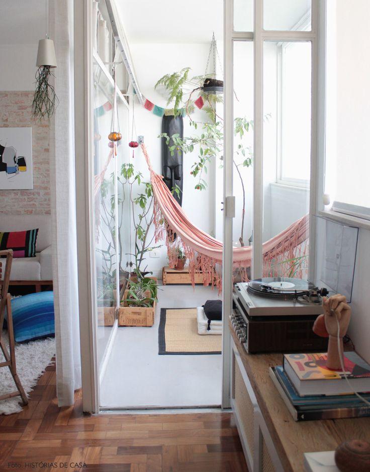 balcon hamac idee deco blanc scandinave