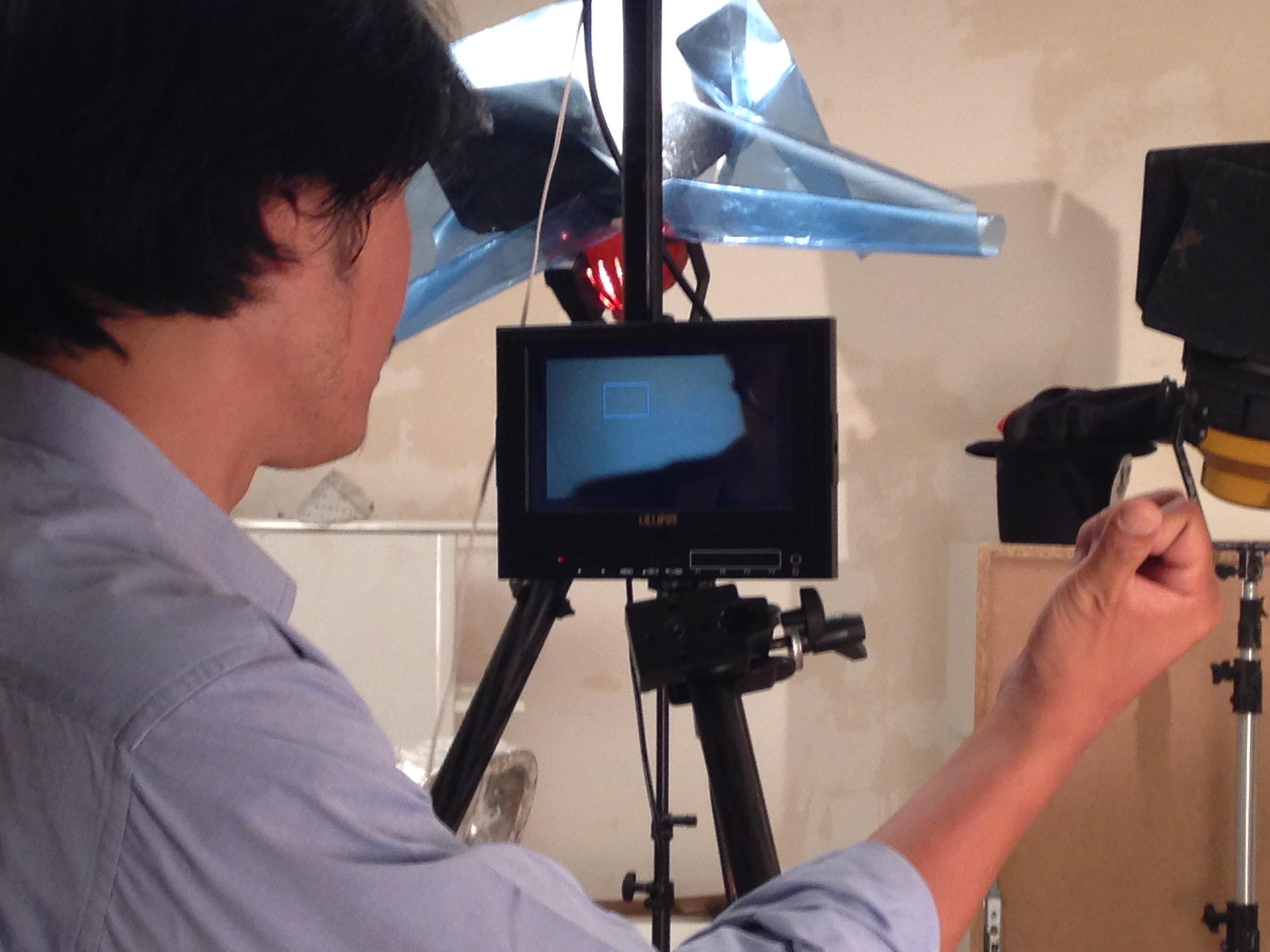 derriere la camera isover tournage