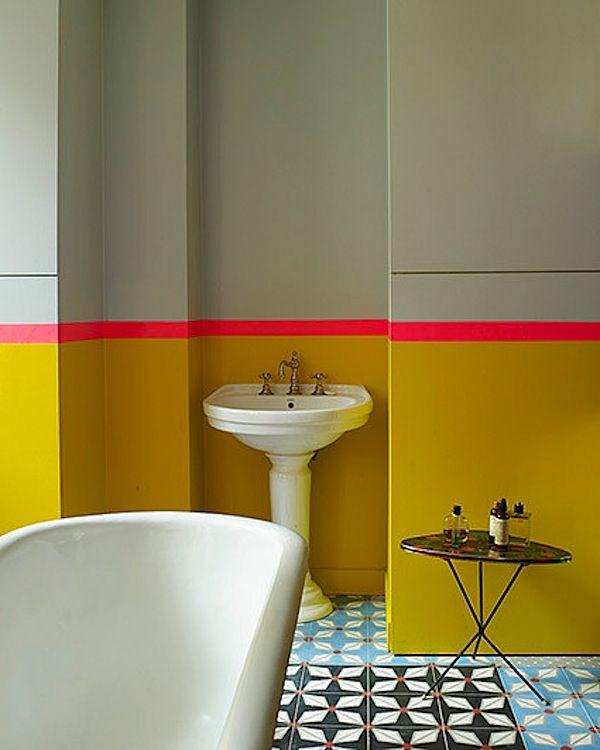 salle de bain carrelage original