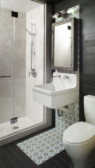 salle de bain originalité duo de carrelage