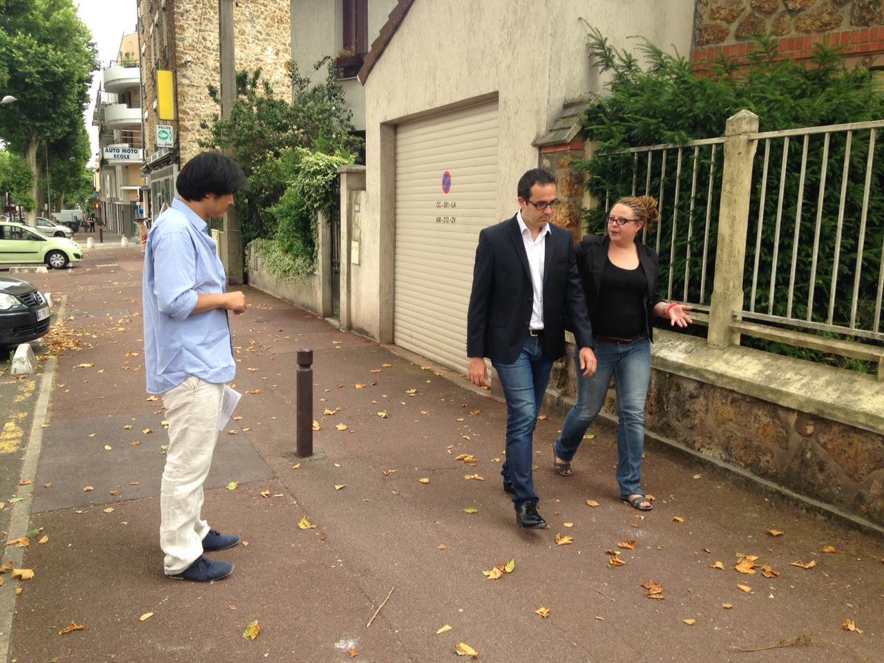 tournage dans la rue