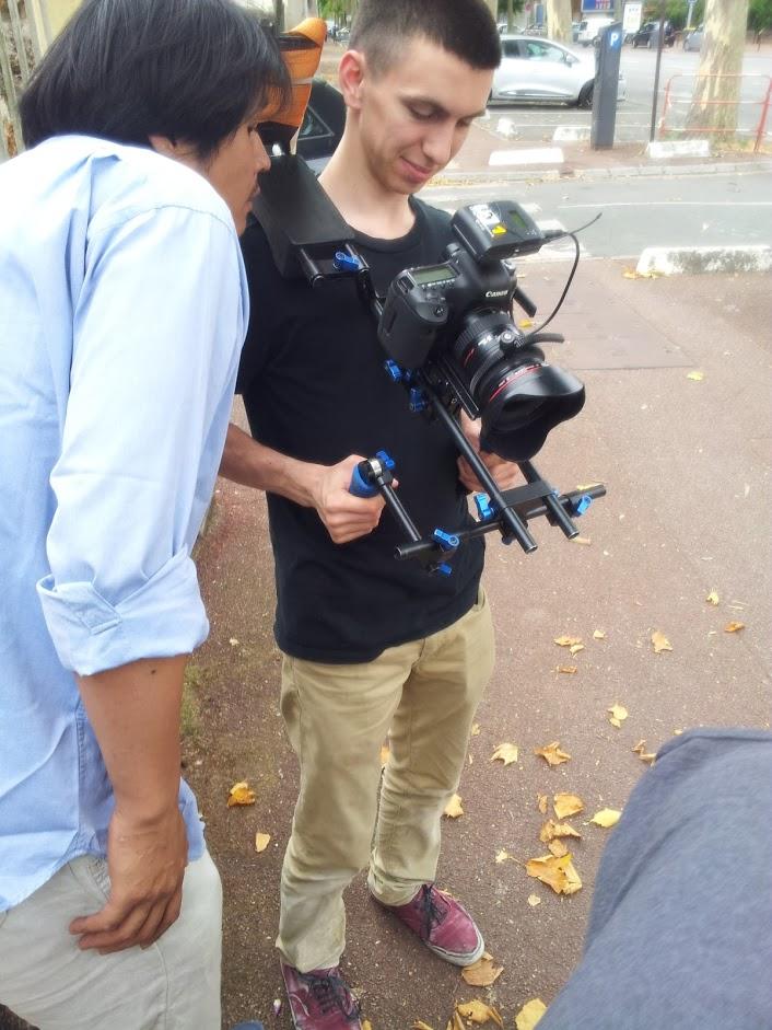 tournage video isover equipe technique