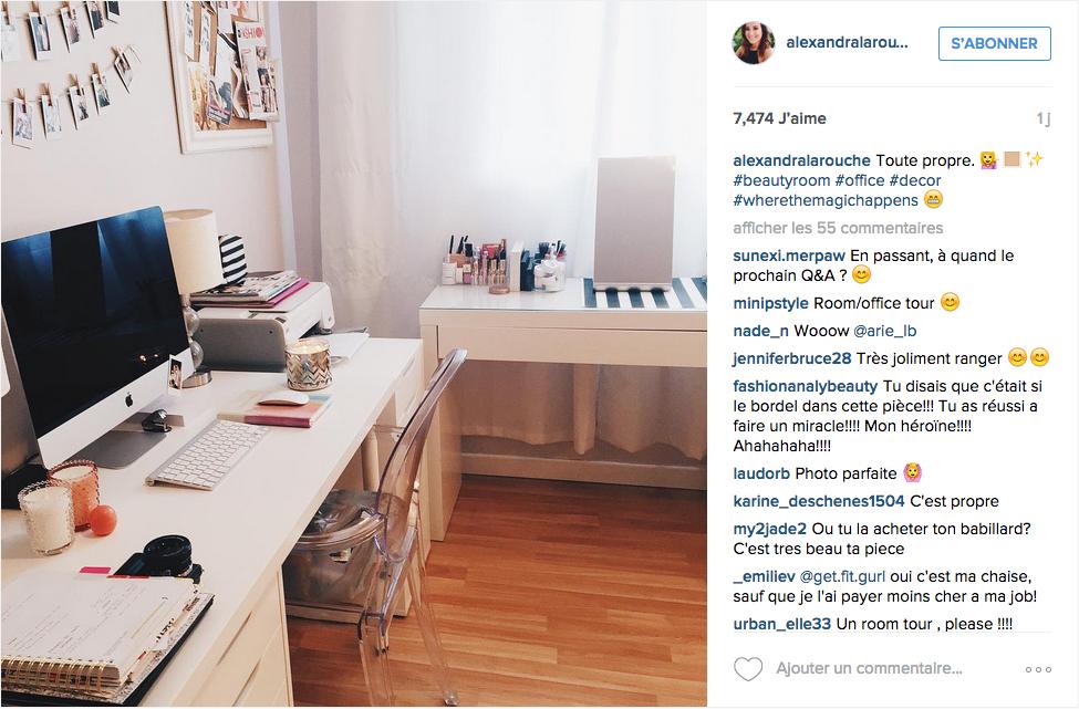 Instagram une tonne d id es pour un joli bureau cocon for Chambre instagram