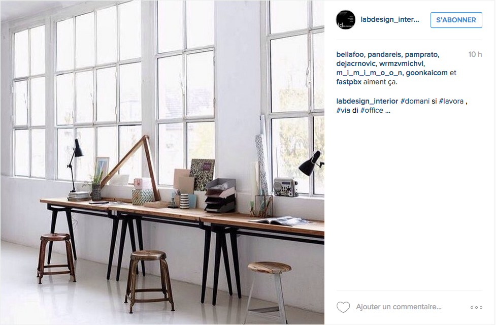 instagram une tonne d id es pour un joli bureau cocon d co vie nomade. Black Bedroom Furniture Sets. Home Design Ideas