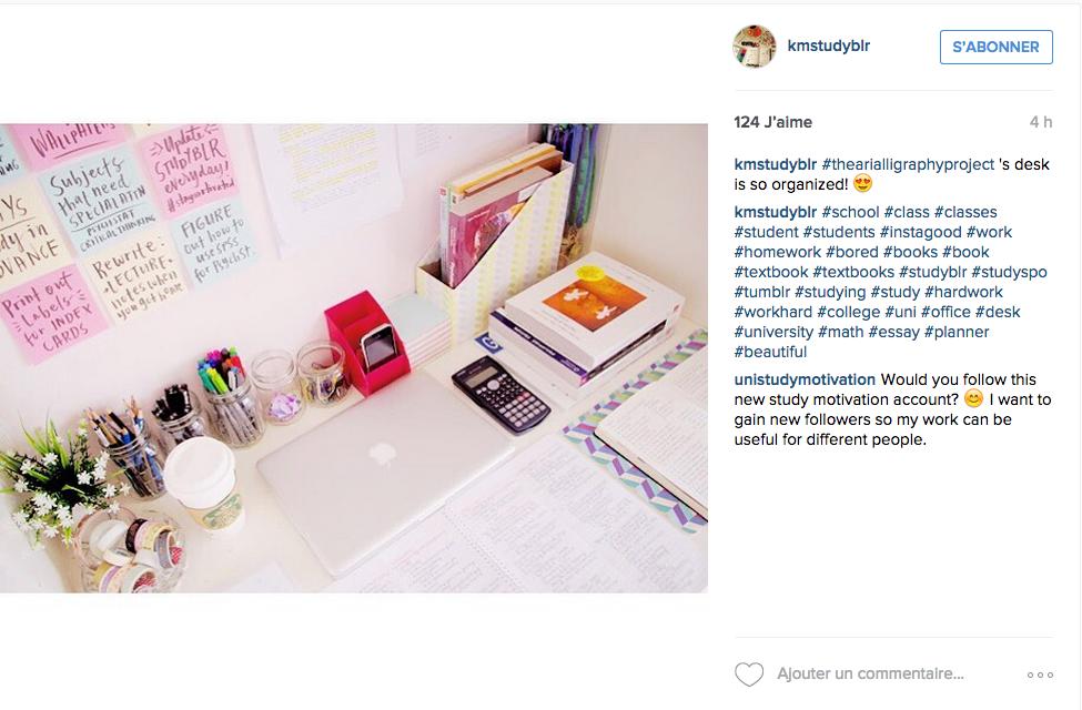 Instagram une tonne d id es pour un joli bureau cocon de d coration le blog - Idee deco bureau travail ...