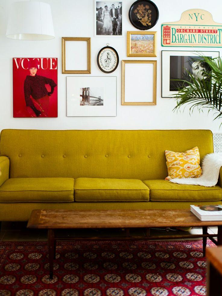 Le jaune moutarde pour une rentr e douce et piquante la - Decoration salon jaune moutarde ...