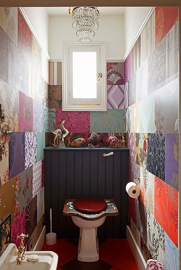 deco toilette patchwork