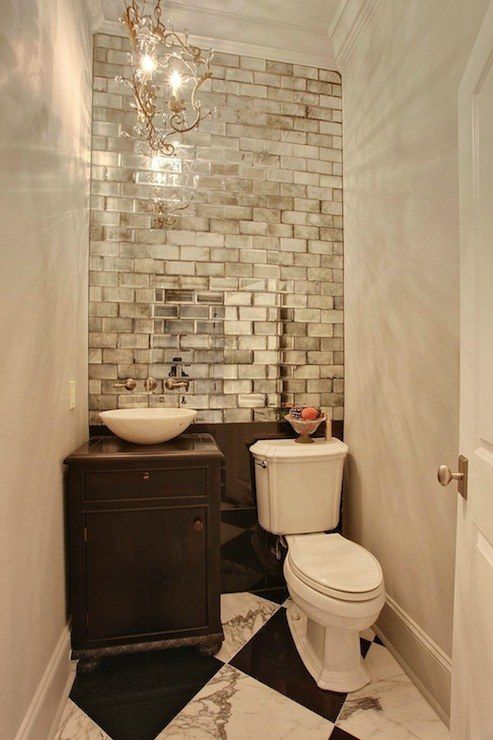 deco toilette rafinement argent bois