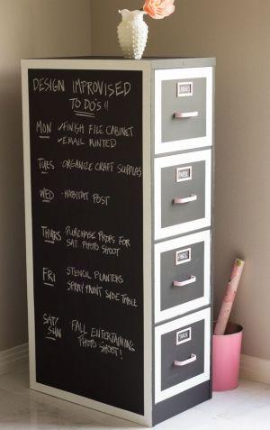 diy personnalisation meuble rangement papier