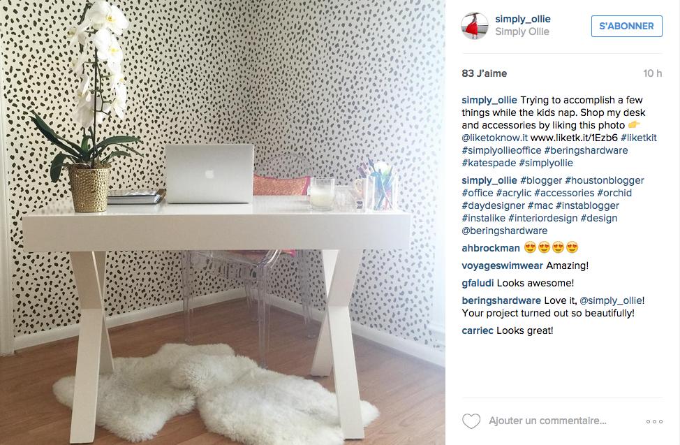 instagram une tonne d id es pour un joli bureau cocon. Black Bedroom Furniture Sets. Home Design Ideas