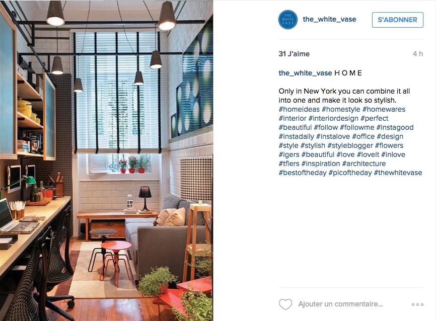 Instagram une tonne d id es pour un joli bureau cocon for Idee bureau petit espace