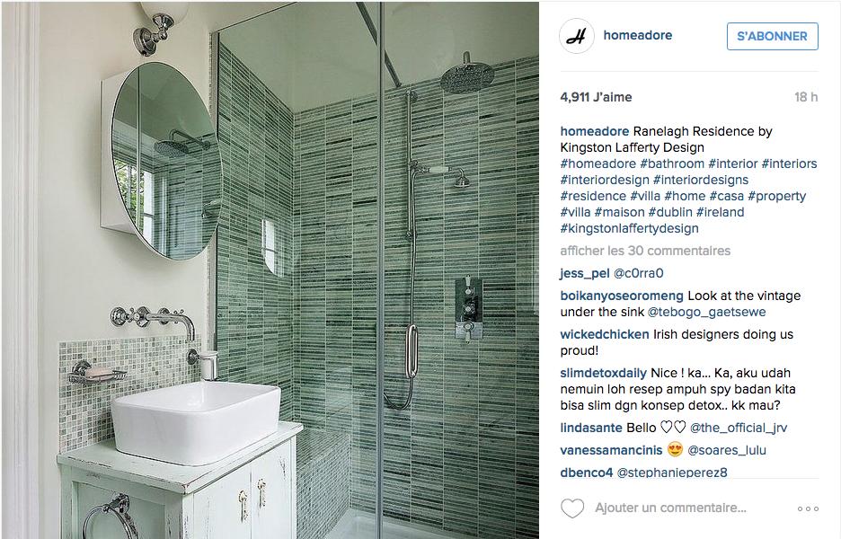 Instagram des id es d co pour la salle de bain cocon for Reveil de salle de bain