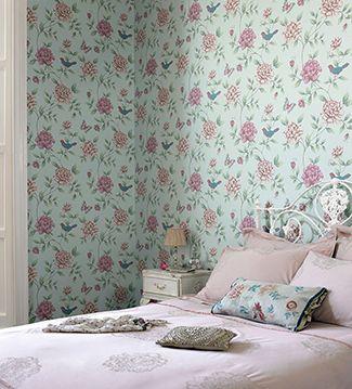 deco papier peint fleur cosy et frais