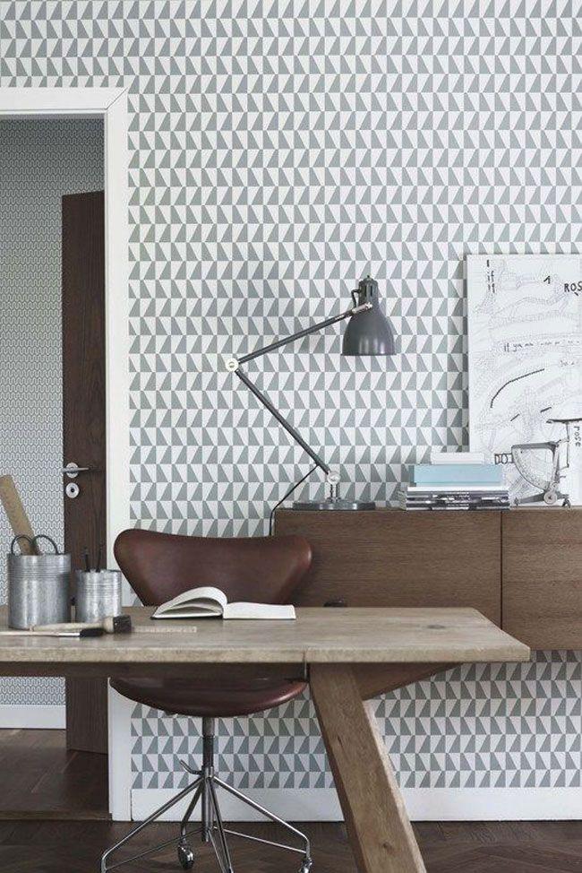 deco papier peint geometrie scandinave