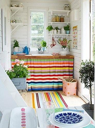 deco rideau couleurs lignes idée placard