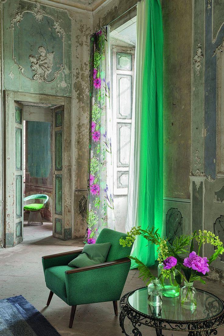 Des rideaux et des motifs cocon de d coration le blog for Designers guild bedroom ideas