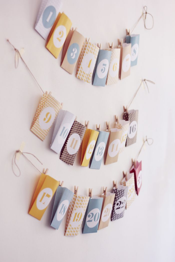 diy calendrier de lavent deco simple a faire