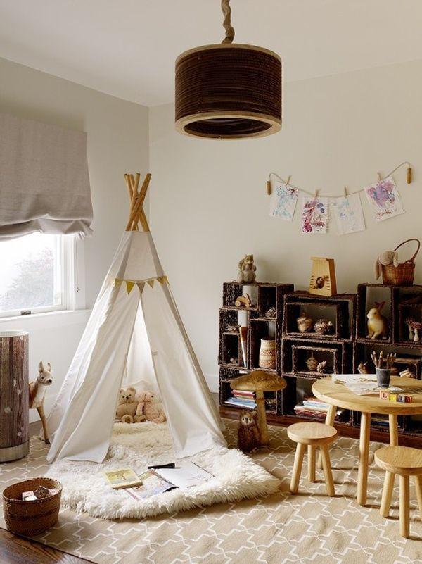 espace jeu chambre enfant montessori idee