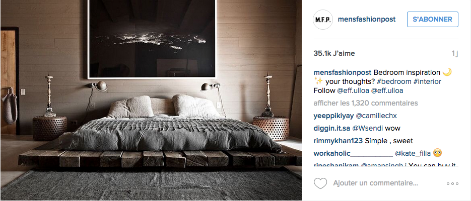 instagram chambre deco contemporaine neutre