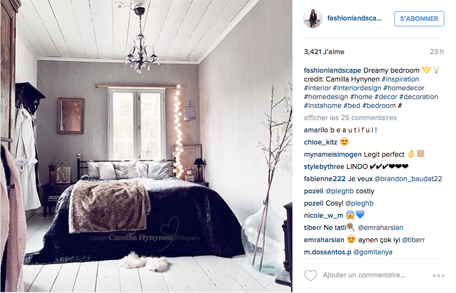 instagram inspiration d co pour la chambre cocon de d coration le blog. Black Bedroom Furniture Sets. Home Design Ideas