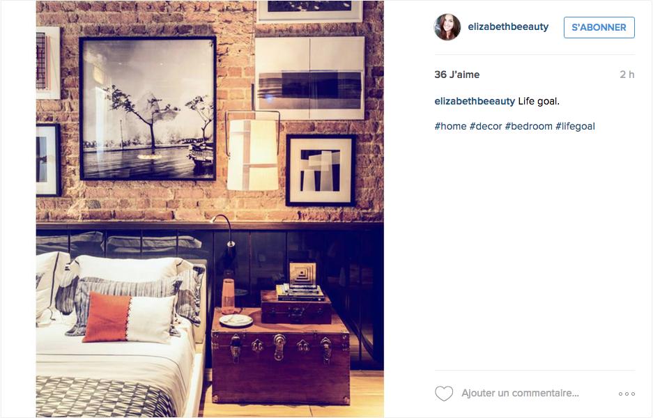 instagram chambre deco murale cadre