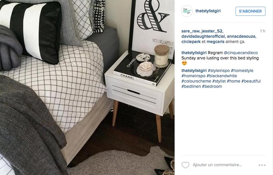 instagram chambre deco neutre blanc gris tendance
