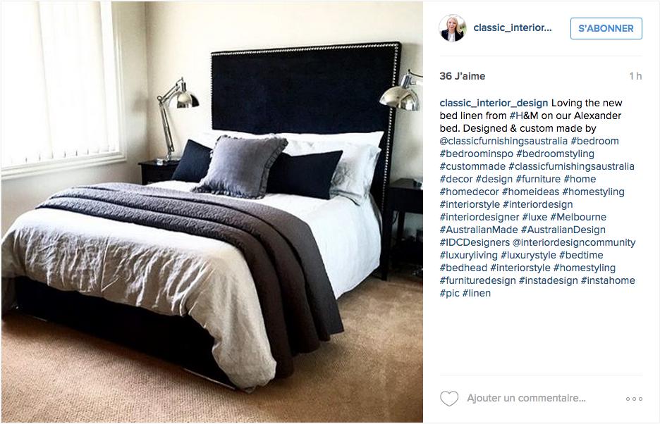 instagram chambre deco neutre noir blanc gris