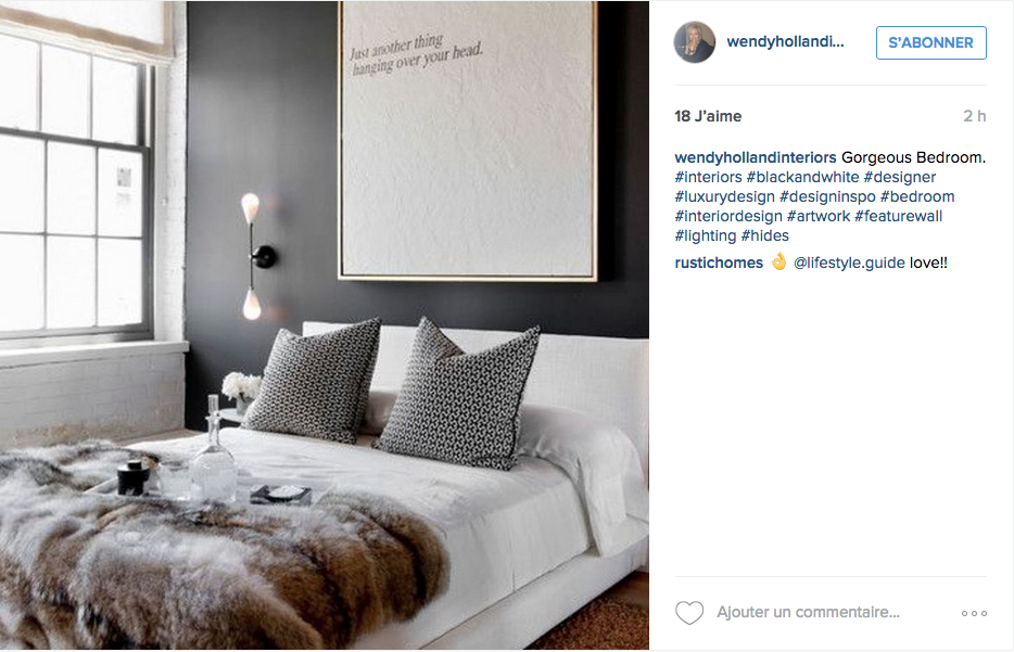 Instagram inspiration d co pour la chambre cocon de for Decoration interieur chambre