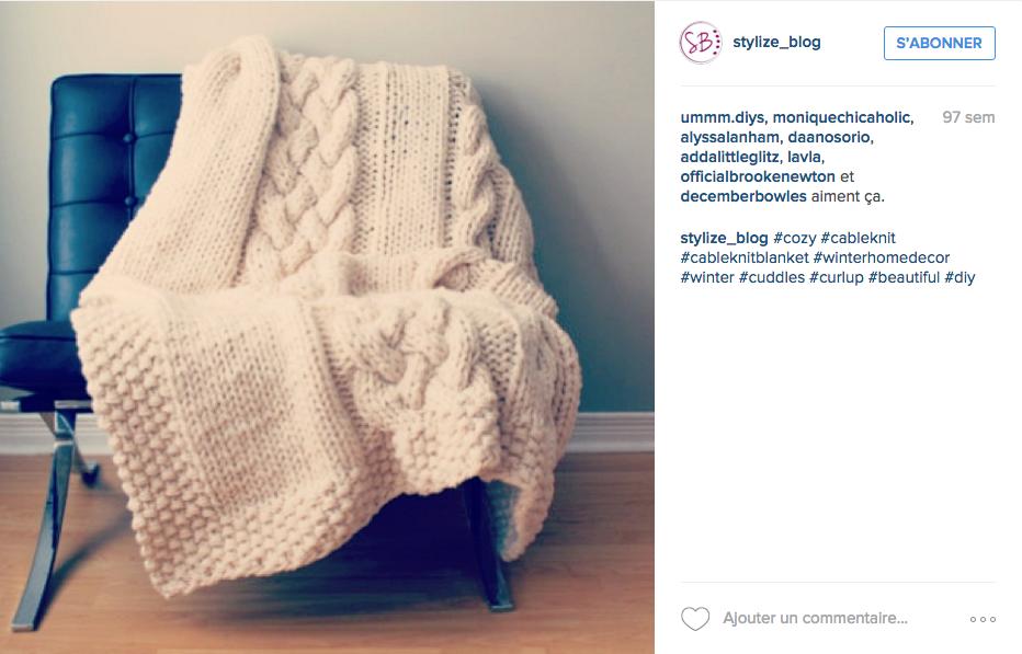 fauteuil vintage plaid en laine