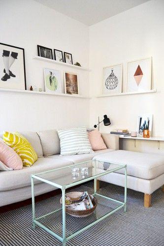 petit salon deco canape angle clair - Comment Decorer Un Petit Salon