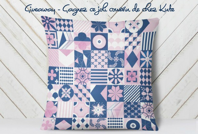 Giveaway kute coussin design contemporain